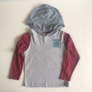 Boys Billabong Bad Billys Long Sleeve Hoodie T-Shirt Size 6